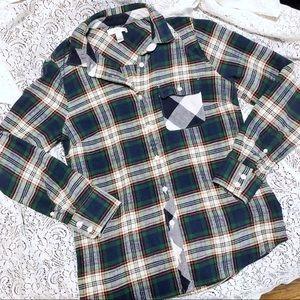 J. Crew Plaid Flannel Button Down Shirt Size 4